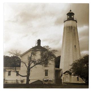 Sandy Hook Lighthouse Ceramic Tiles