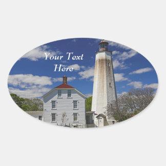 Sandy Hook Lighthouse Oval Sticker