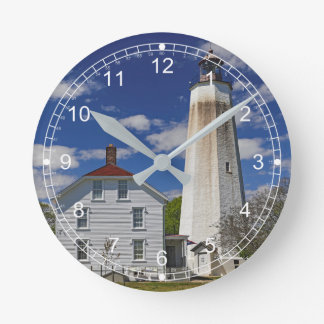 Sandy Hook Lighthouse Round Clock