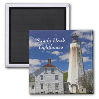 Sandy Hook Lighthouse Square Magnet