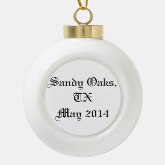 Sandy Oaks ornament