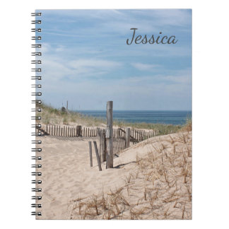 Sandy path to the beach at Race Point Spiral Notebooks