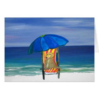 Sandy Paws Beach Dog Card