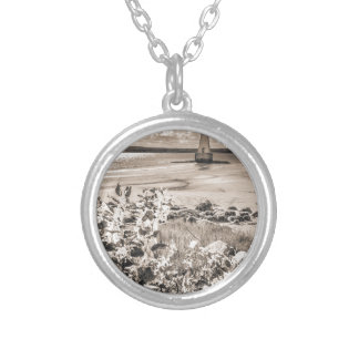 Sandy Point Lighthouse Silver Plated Necklace