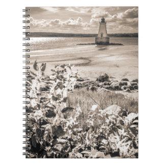 Sandy Point Lighthouse Spiral Notebook