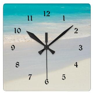 Sandy shore clock