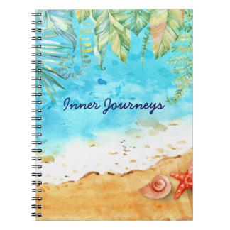 Sandy Shore Tropical Beach Spiral Notebook