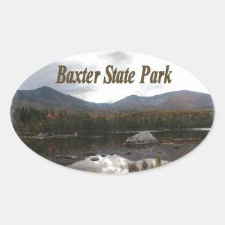 Sandy Stream Pond Oval Sticker
