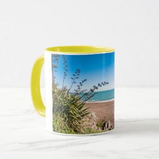 Sandy sunny beach mug
