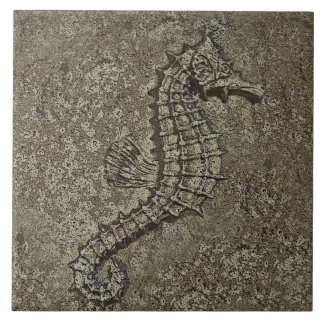 Sandy Textured Seahorse Altered Photograph Tile
