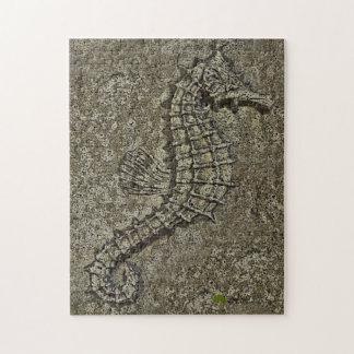 Sandy Textured Seahorse Photograph Jigsaw Puzzle