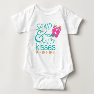 Sandy Toes and Salty Kisses Baby Bodysuit