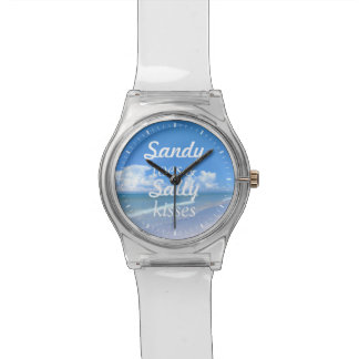 Sandy Toes And Salty Kisses Wrist Watch