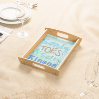 Sandy Toes & Salty Kisses Beach Theme Serving Tray