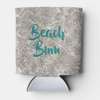 Sandy water beach bum drink koozie
