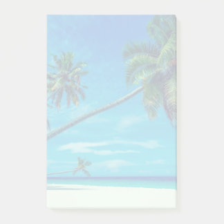 Sandy White Beach with Tropical Palms Post-it® Notes