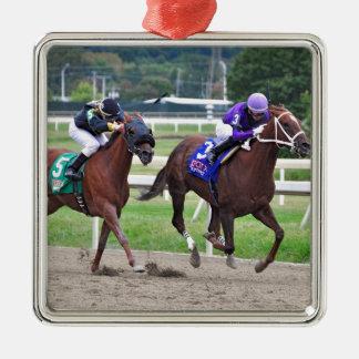 Sandy's Song - Silvestre Gonzalez Silver-Colored Square Ornament
