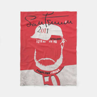 Sanfermines the 50 Hemingways Pays An. Fleece Blanket