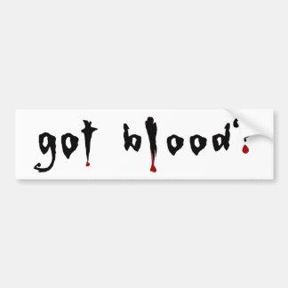 sang obtenu ? autocollant de voiture