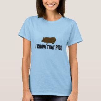 """Sang vrai """"je connais ce porc """" t-shirt"""