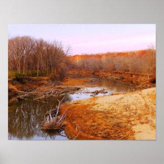 Sangamon River Near Lincoln's New Salem, Illinois Poster