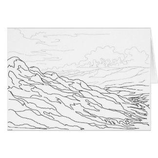 Sangre de Cristo mountains and Rio Grande valley Card