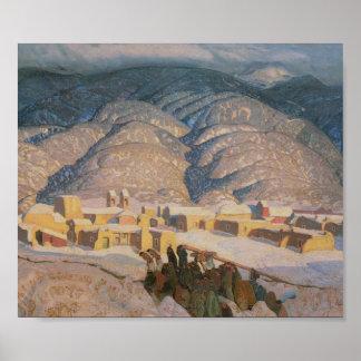 Sangre de Mountains 1922 Art Print Poster