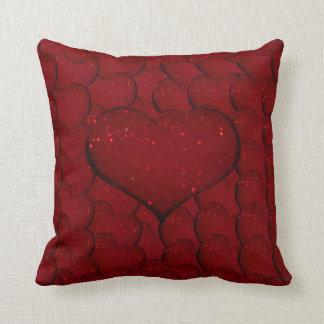 Sangria Hearts Throw Pillow