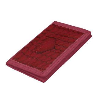 Sangria Hearts Tri-fold Wallets