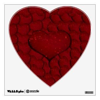Sangria Hearts Wall Sticker