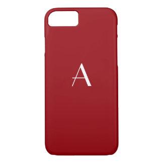 Sangria Red Monogram iPhone 7 case