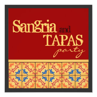 Sangria & Tapas Party! Happy Fiesta Invitation