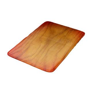 Sangria Wood Pattern Bath Mat