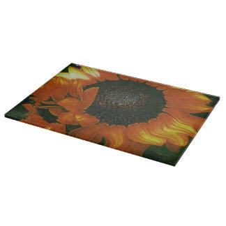 Sanguine Sunflower Cutting Board