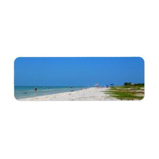 Sanibel Beach Return Address Labels