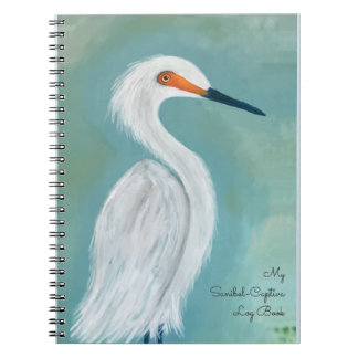 Sanibel Florida - Captiva White Egret Art Notebook