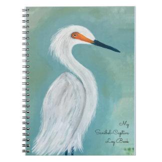 Sanibel Florida - Captiva White Egret Art Notebooks