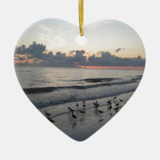 Sanibel Island, FL Ceramic Heart Ornament
