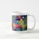 Sanibel Island Flamingo Art Basic White Mug