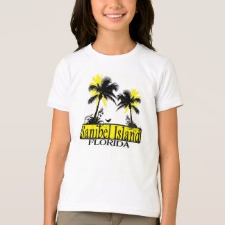 Sanibel Island Florida girls palm tree tee
