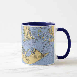 Sanibel Island, Florida Nautical Chart Coffee Mug