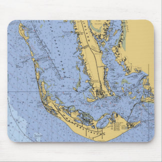Sanibel Island Florida Nautical Chart Mousepad