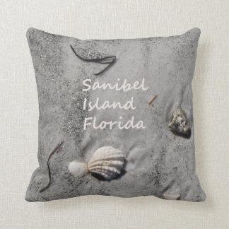 Sanibel Island Florida sand shells Throw Pillow