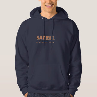 Sanibel Island Florida Typographic Design Hoodie