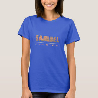 Sanibel Island Florida Typographic Design T-Shirt