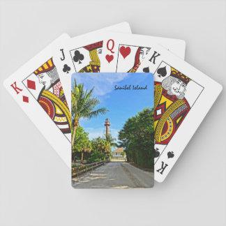 Sanibel Island Lighthouse Florida Gulf Coast Poker Deck