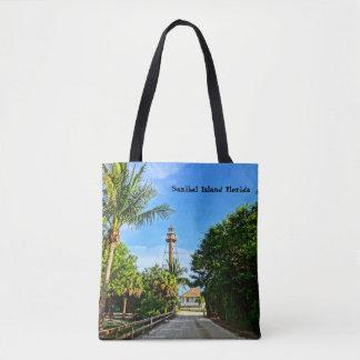 Sanibel Island Lighthouse Florida Gulf Coast Tote Bag