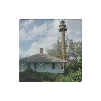 Sanibel Island Lighthouse Florida Stone Magnets