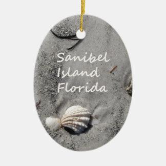 Sanibel Island Sand Shells Ceramic Ornament