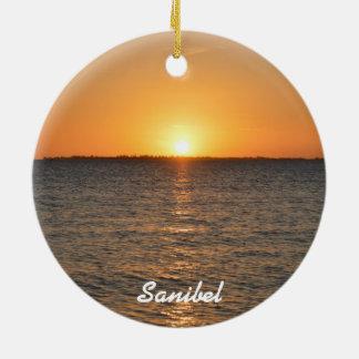 Sanibel Island Sunset Christmas Ornament